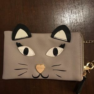 Betsey Johnson cat Small Case/Wallet